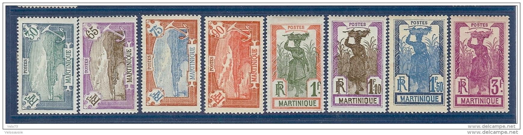 MARTINIQUE N° 120/128 * - Martinique (1886-1947)