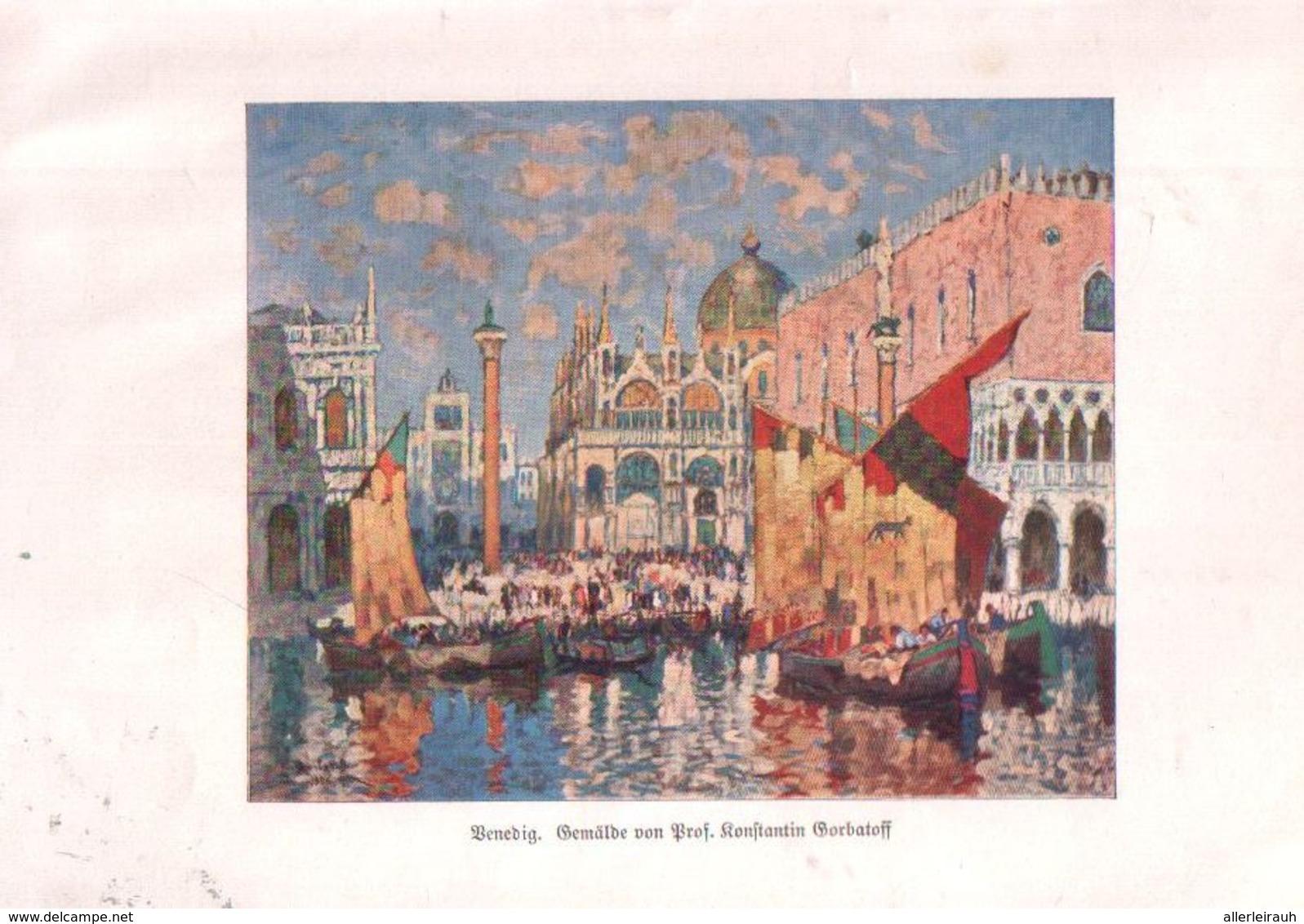 Venedig (nach Einem Gemälde Von Prof.Konstantin Gorbatoff / Druck, Entnommen Aus Zeitschrift / 1930 - Bücher, Zeitschriften, Comics