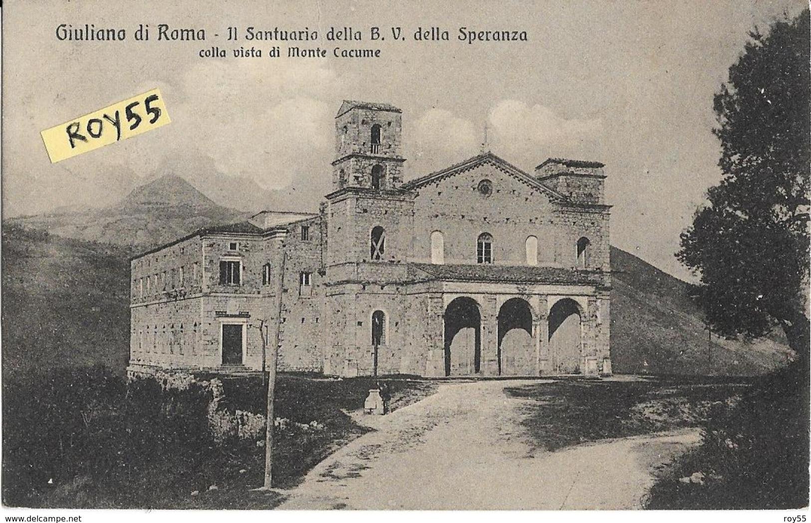 Lazio-roma-giuliano Di Roma Veduta Santuario Beata Vergine Della Speranza Primi 900 - Other Cities