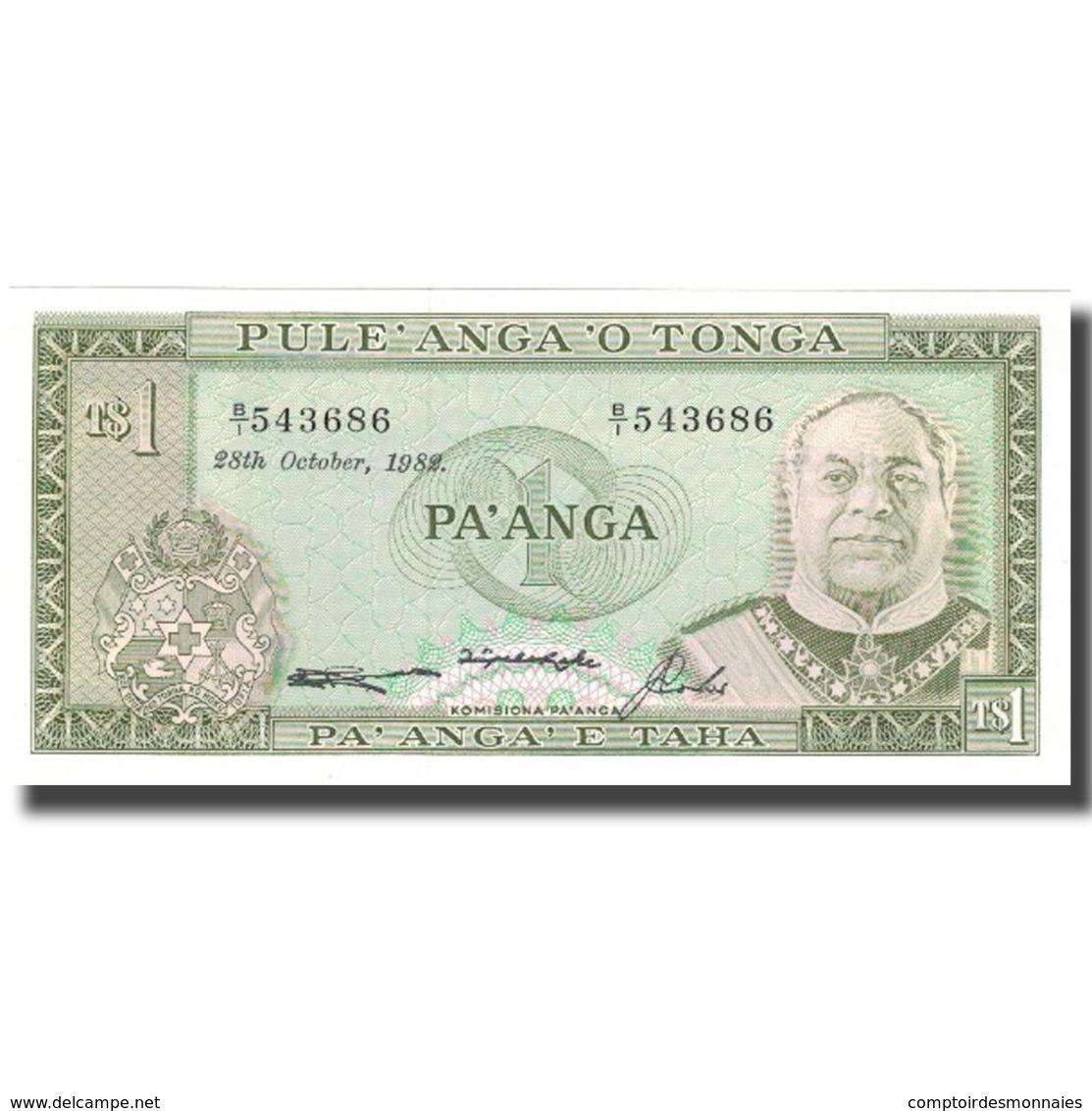 Billet, Tonga, 1 Pa'anga, 1982, 1982-10-28, KM:25, NEUF - Tonga