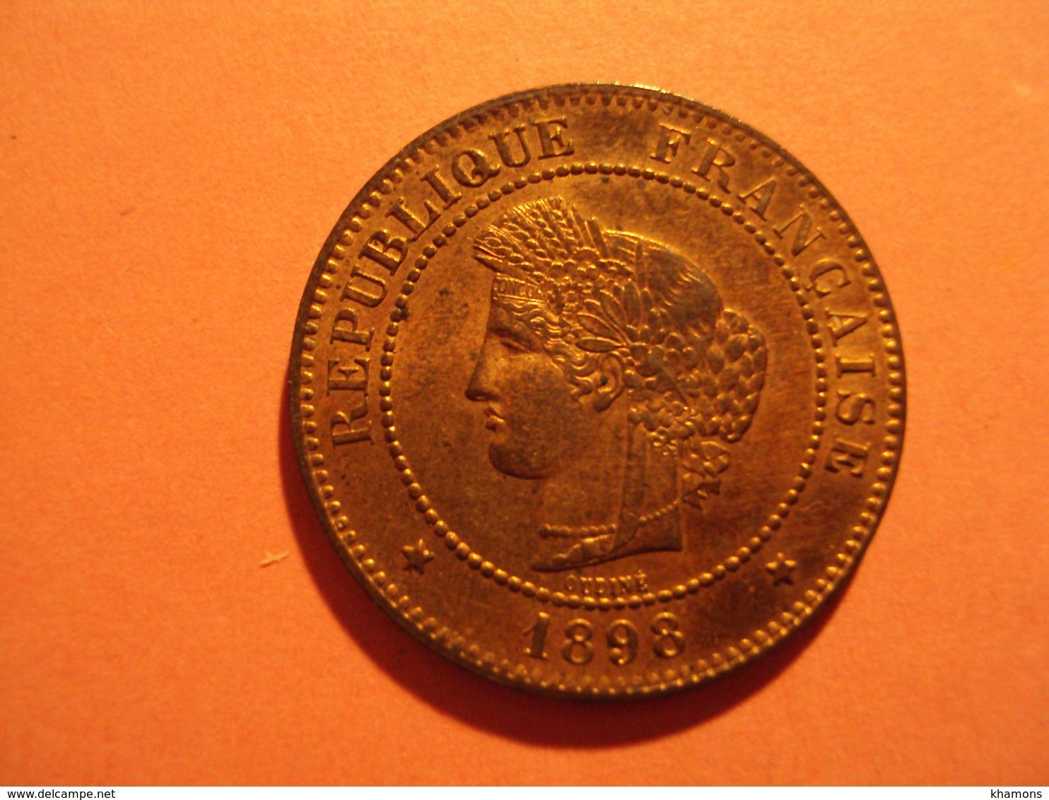 5 CENTIMES CERES ANNEE 1898 A ETAT SPL A VENDRE 50 EUR AU LIEU DE 80 EUR. - C. 5 Céntimos