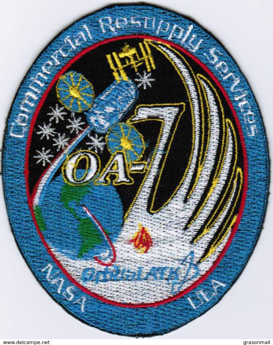 ISS Expedition 51 Cygnus OA-7 ATK International Space Station Iron On Embroidered Patch - Patches