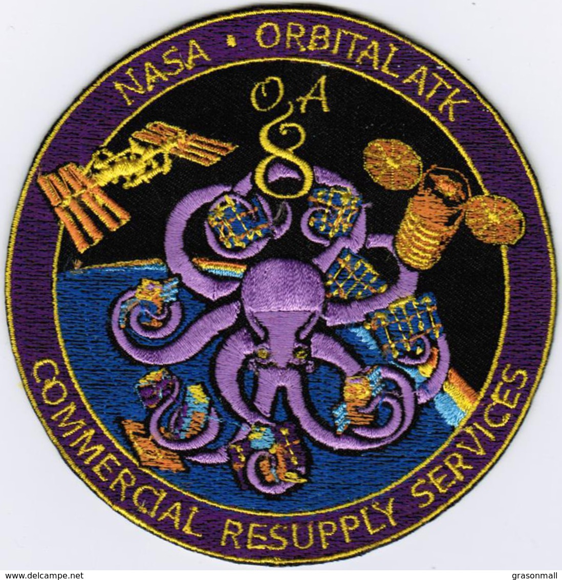 ISS Expedition 53 Cygnus OA-8 NASA International Space Station Iron On Patch - Patches