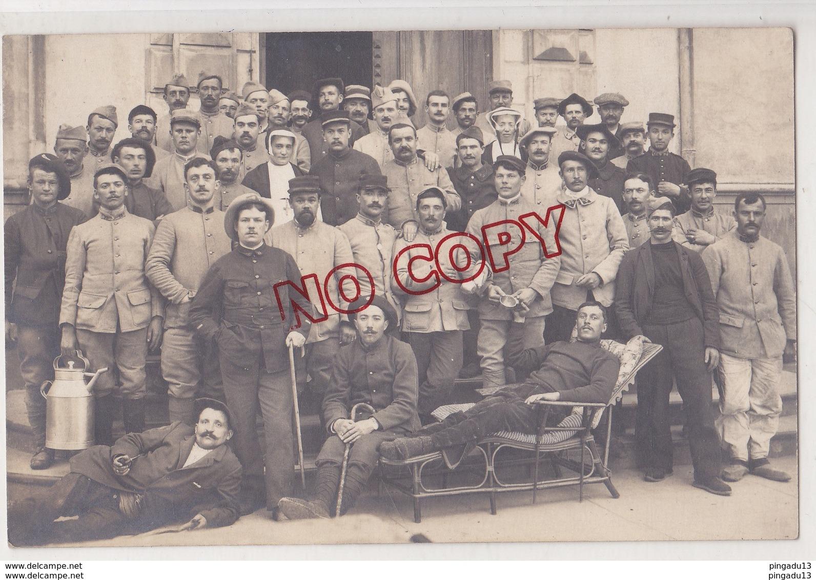 Au Plus Rapide Carte Photo Poix Lyon Religieuse Excellent état Hôpital Militaire - Guerre 1914-18