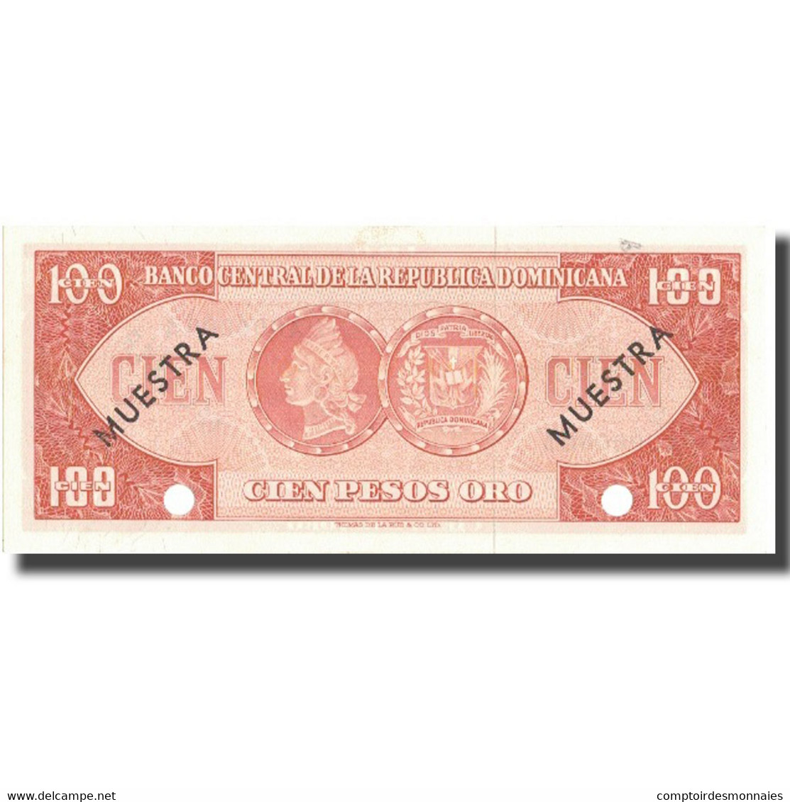 Billet, Dominican Republic, 100 Pesos Oro, Undated (1964-74), Specimen - Dominicaine