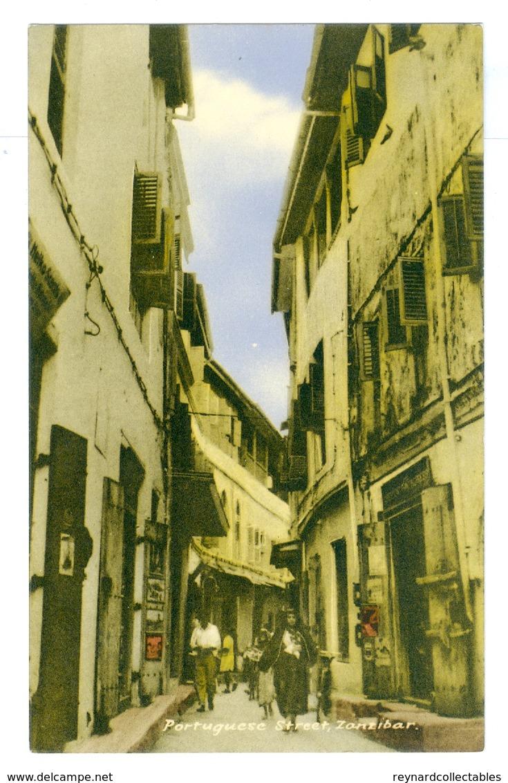 Tanzania, Zanzibar, Portuguese Street. Printed Pc, Unused. - Tanzania