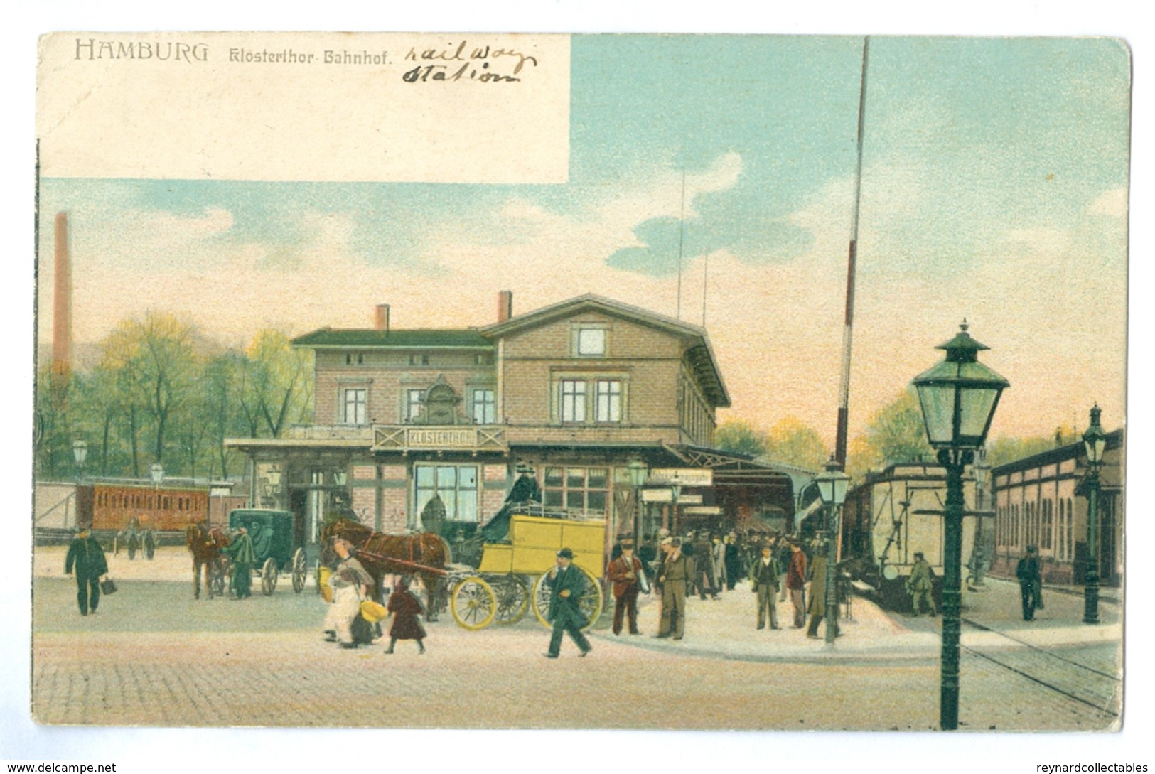 1900's, Germany, Hamburg, Train Sation. Printed Pc, Unused. - Other