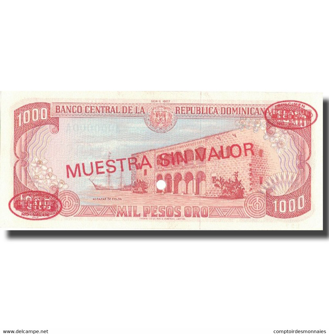 Billet, Dominican Republic, 1000 Pesos Oro, 1987, 1987, KM:124s2, NEUF - Dominicaine