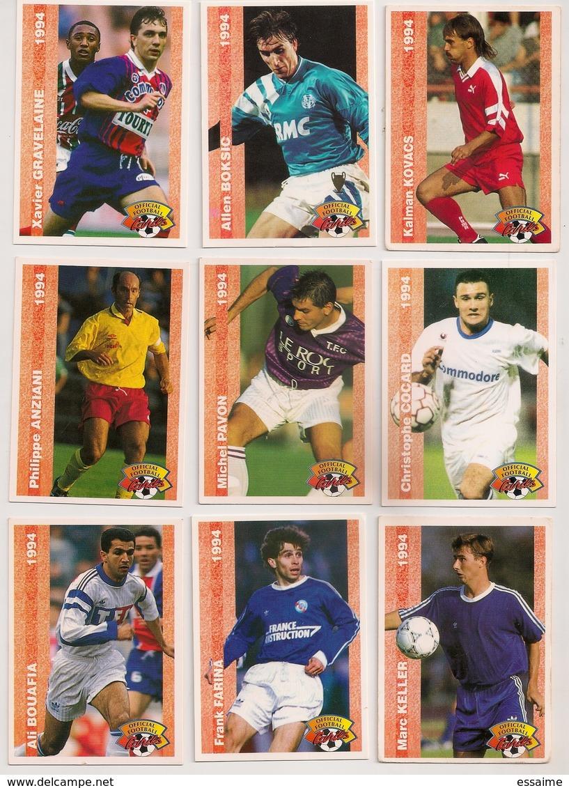 9 Cartes Panini Football 1994 Cards Official. Kovacs Boksic  Gravelaine Cocard Pavon Anziani Keller Farina  Bouafia - Other