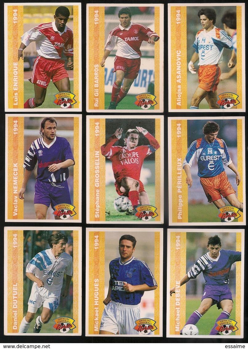 9 Cartes Panini Football 1994 Cards Official. Dutuel Hugues Debève Nemecek Grosselin Périlleux Enrique Barros Asanovic - Other