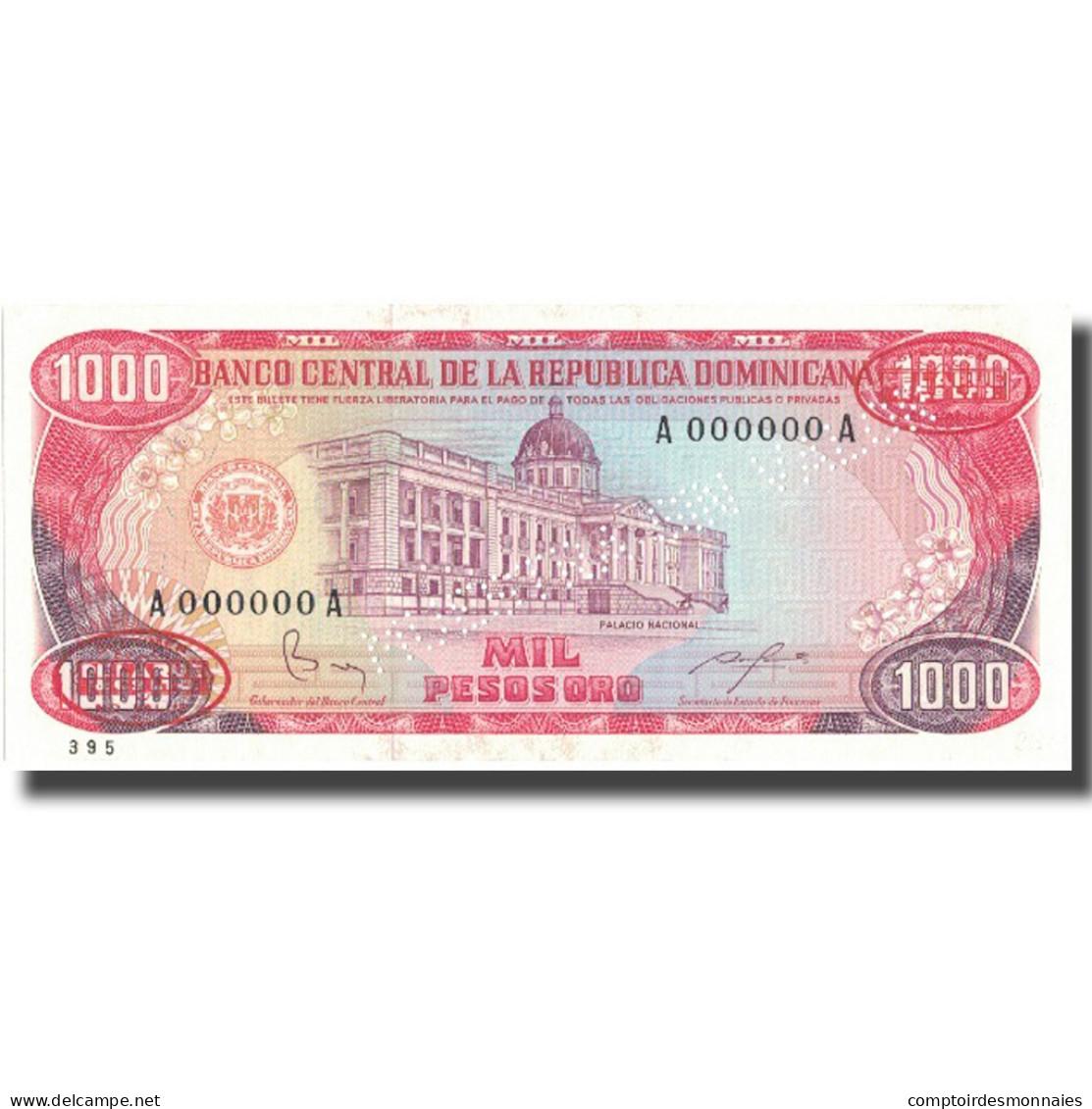 Billet, Dominican Republic, 1000 Pesos Oro, 1984, 1984, KM:124s3, NEUF - Dominicaine