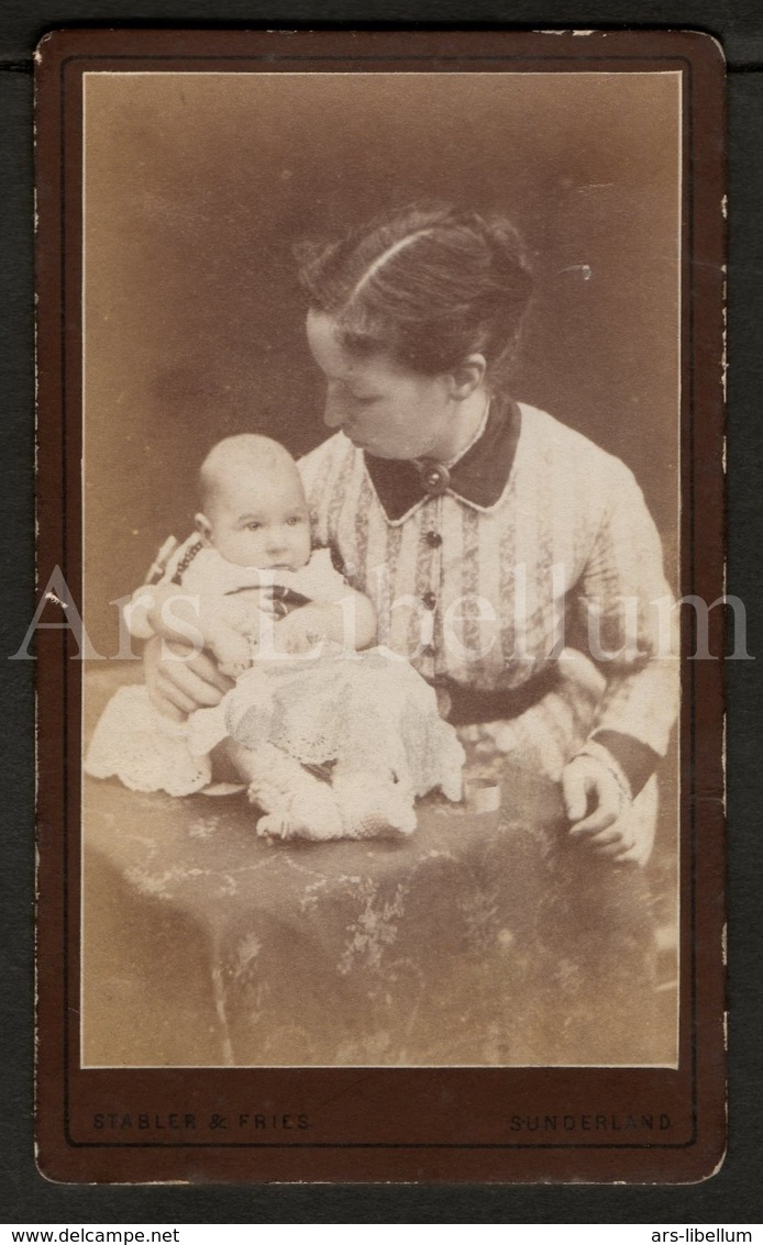 Photo-carte De Visite / CDV / Bébé / Baby / Photographer / England / Mother / Mère - Foto