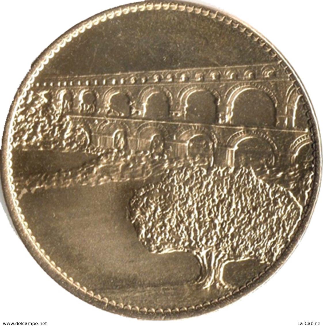30 VERS PONT DU GARD REVERS OLIVIER MÉDAILLE SOUVENIR ARTHUS BERTRAND 2015 JETON TOURISTIQUE MEDALS TOKENS COINS - Arthus Bertrand