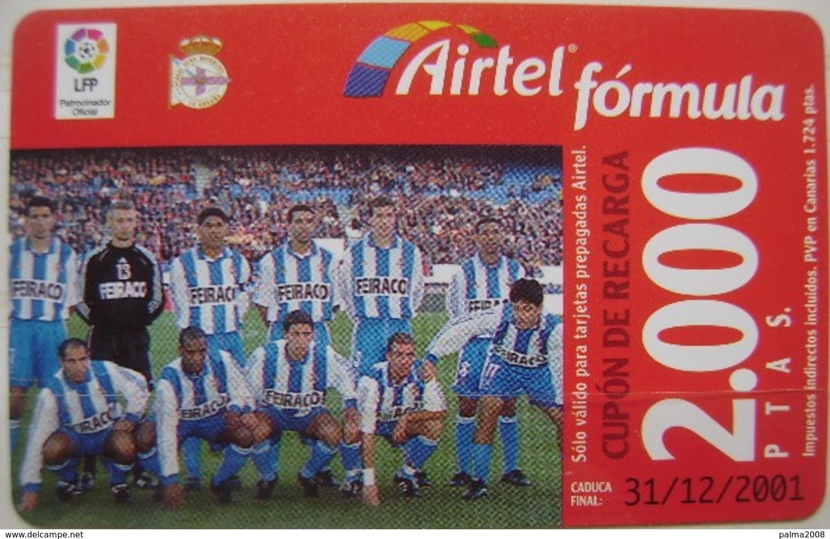 AIRTEL - EQUIPO DE FUTBOL- EL ESPAÑOL - USADA 1ª CALIDAD LA DE LA FOTO - A702 - Spanien