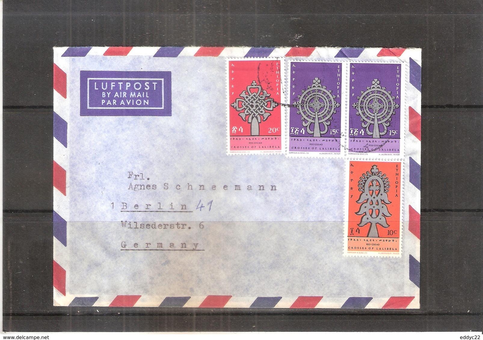 Cover From Ethiopia To Germany - 1968 (to See) - Ethiopie