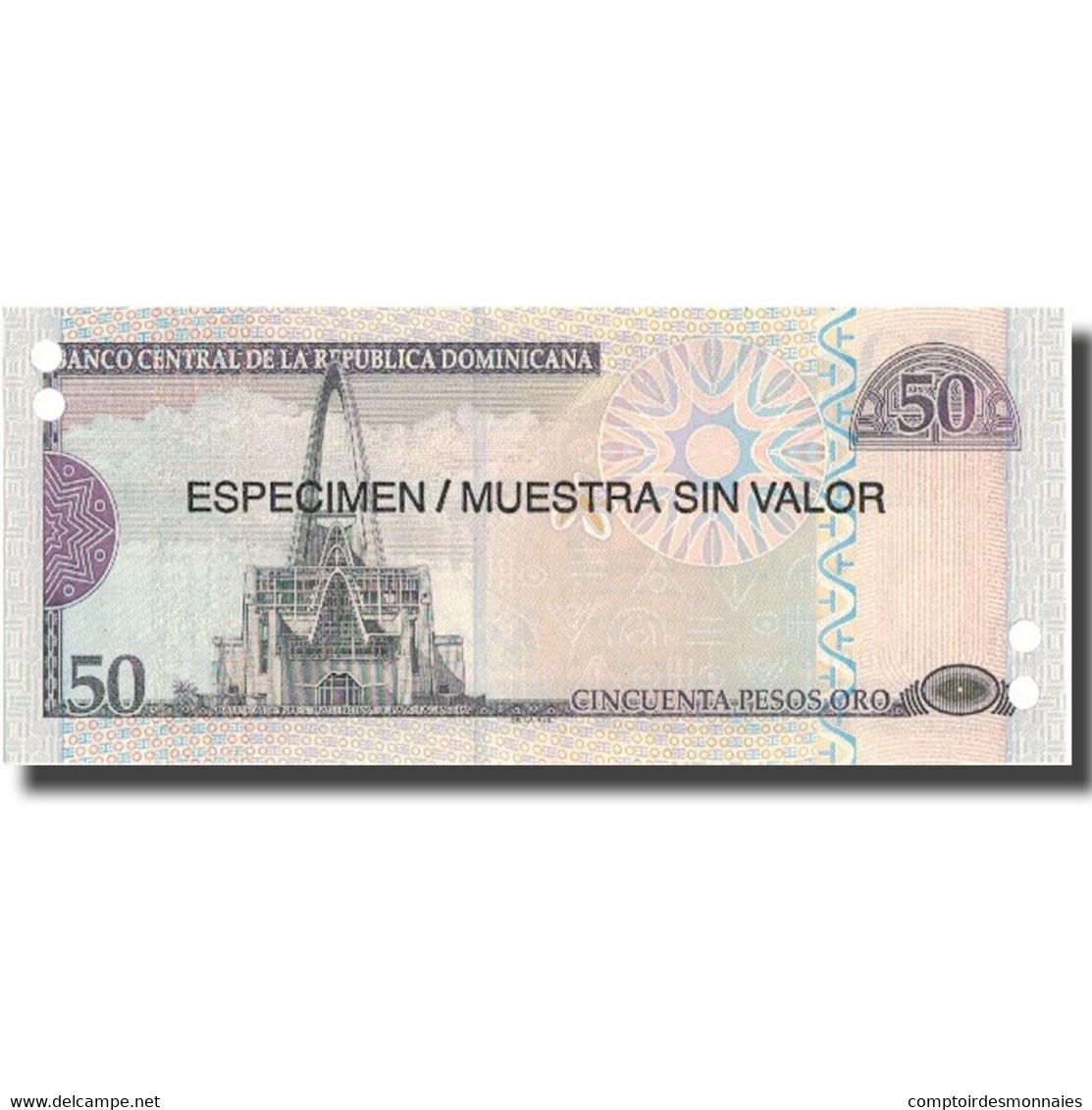 Billet, Dominican Republic, 50 Pesos Oro, 2006, 2006, Specimen, KM:176a, NEUF - Dominicaine
