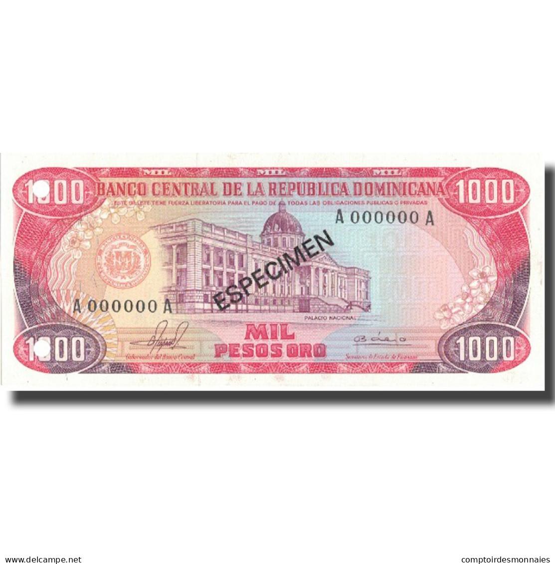 Billet, Dominican Republic, 1000 Pesos Oro, 1981, 1981, KM:124s1, NEUF - Dominicaine