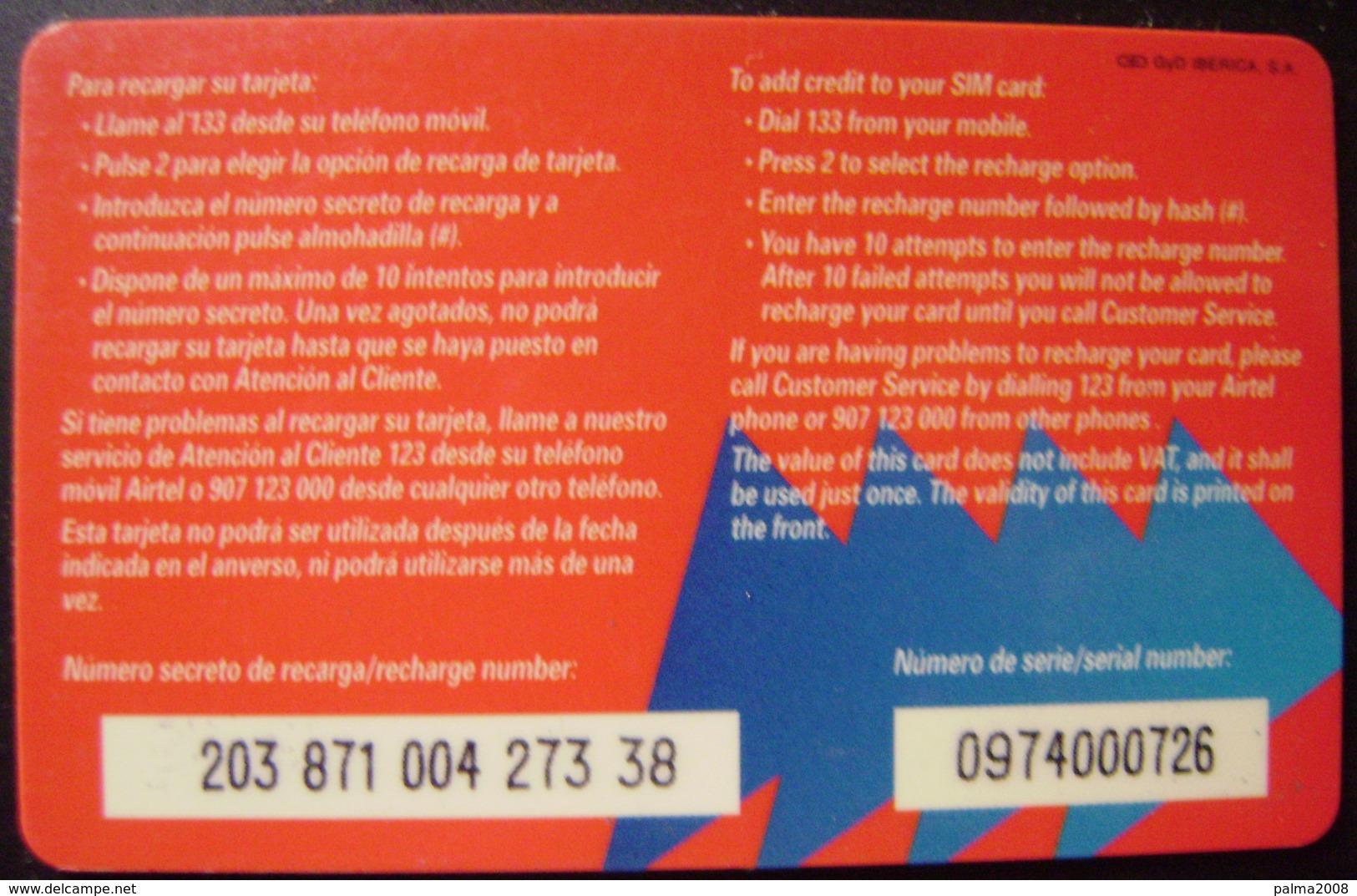 TARJETA AIRTEL - EDICION ESPECIAL NAVIDAD DE 10.000 PTS - A734 - Spanien