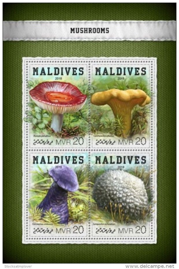 Maldives 2018   Mushrooms   S201806 - Maldives (1965-...)