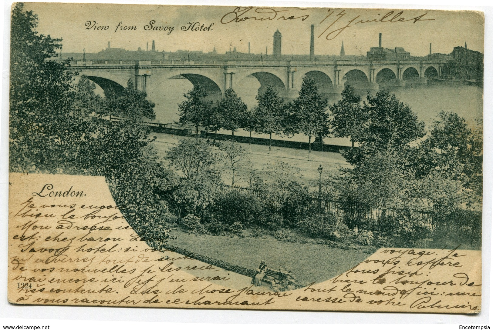 CPA - Carte Postale - Royaume-Uni - London - View From Savoy Hôtel - 1902 ( CP4466 ) - London