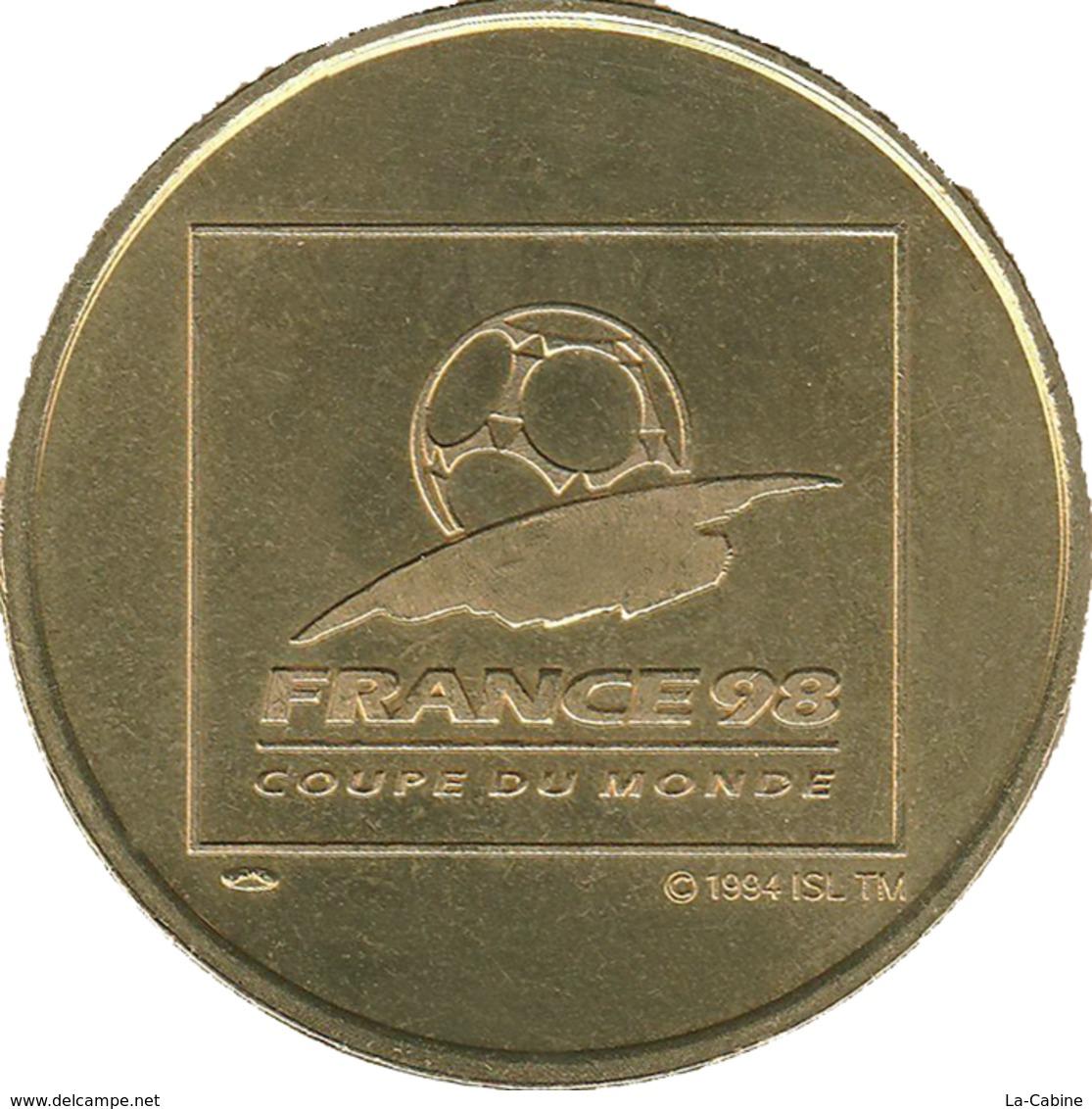 75 PARIS COUPE DU MONDE DE FOOTBALL FRANCE 98 MÉDAILLE MONNAIE DE PARIS JETON MEDALS TOKEN COIN - Monnaie De Paris
