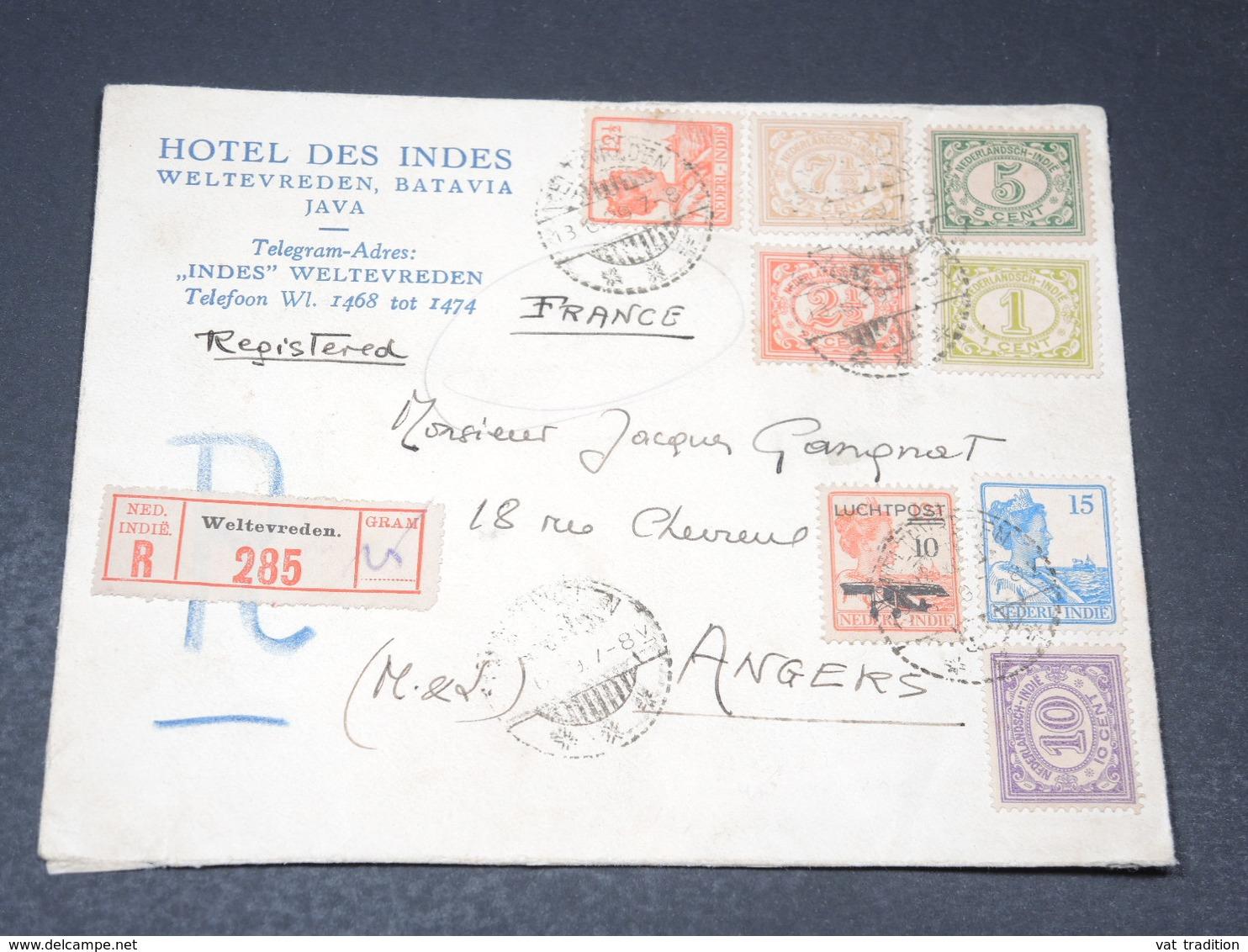 INDES NÉERLANDAISES - Enveloppe En Recommandé De Weltevreden Pour La France En 1929 - L 20659 - Indes Néerlandaises