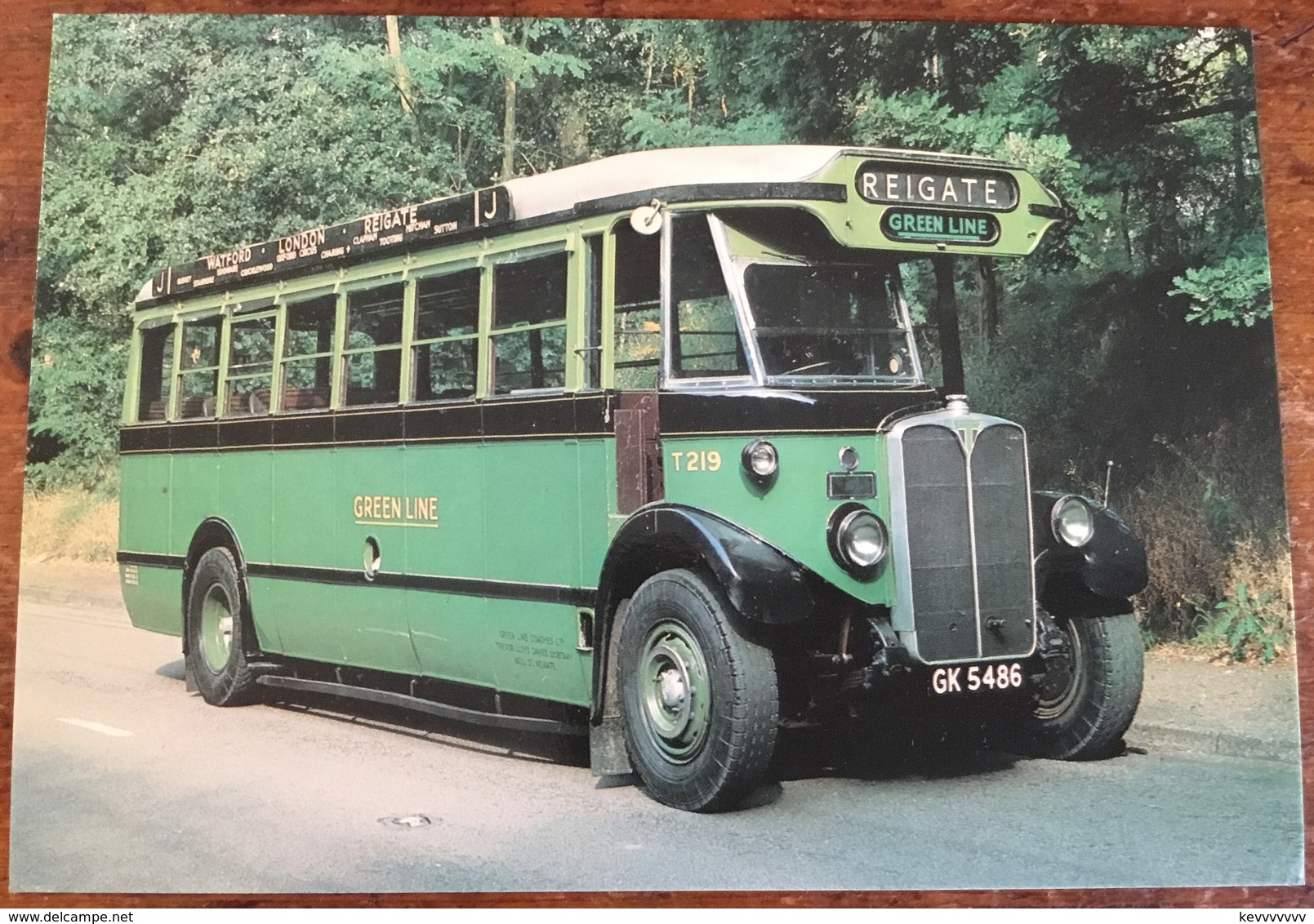 T Type Motor Coach 1930-1961.  No. 219 Was Used On Green Line In The 1930s - Buses & Coaches
