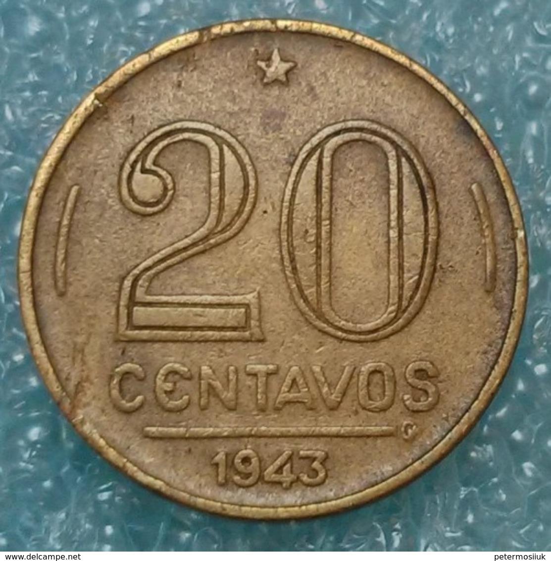 Brazil 20 Centavos, 1943 Getúlio Vargas - Brazil