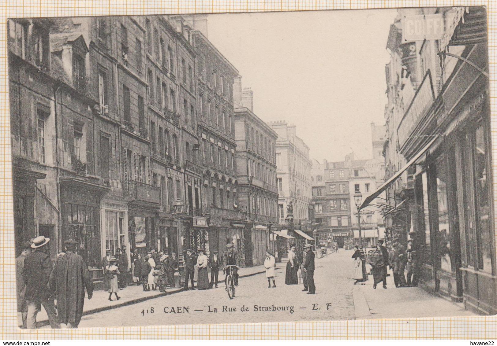 8AK1872 CAEN LA RUE DE STRASBOURG 2 SCANS - Caen