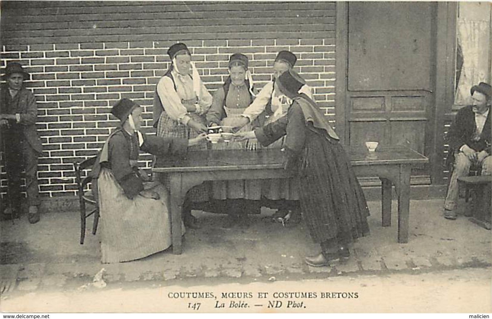 -dpts Div.-ref-AB371- Finistere - Coutumes Moeurs Et Costumes Bretons - Cmcb - N° 147 - La Bolée - Carte Bon Etat - - France