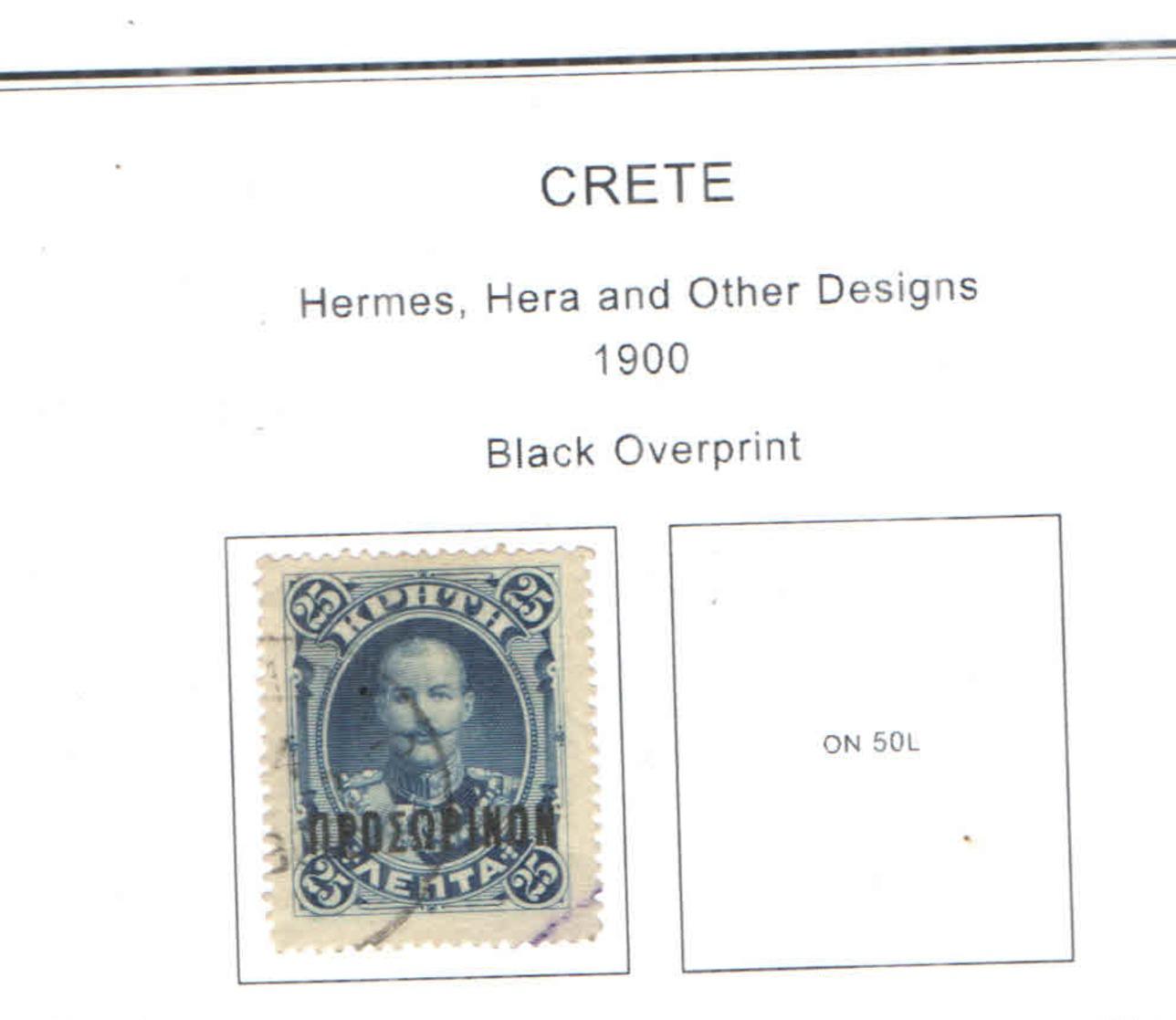 Creta PO 1900 Hermes+Hera+Ovpr. Scott.59+ See Scan On Scott.Page - Creta