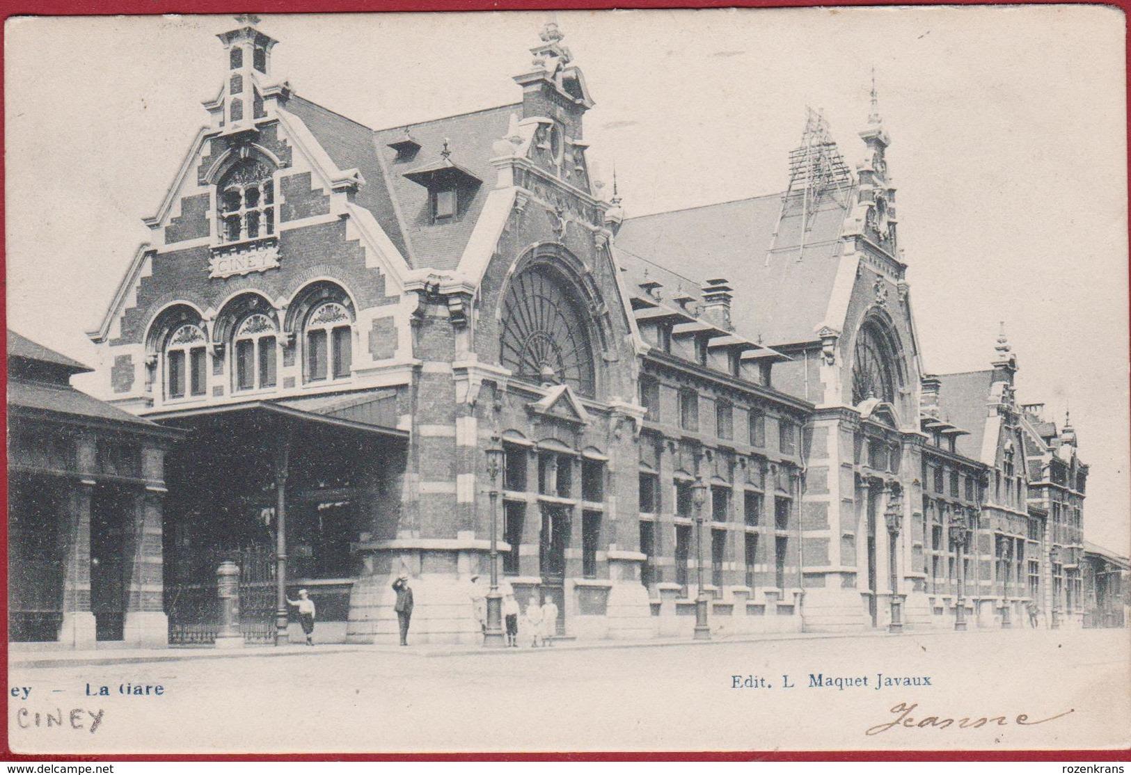 Ciney La Gare Station Anime RARE 1904 (En Très Bon Etat) (In Zeer Goede Staat) - Ciney