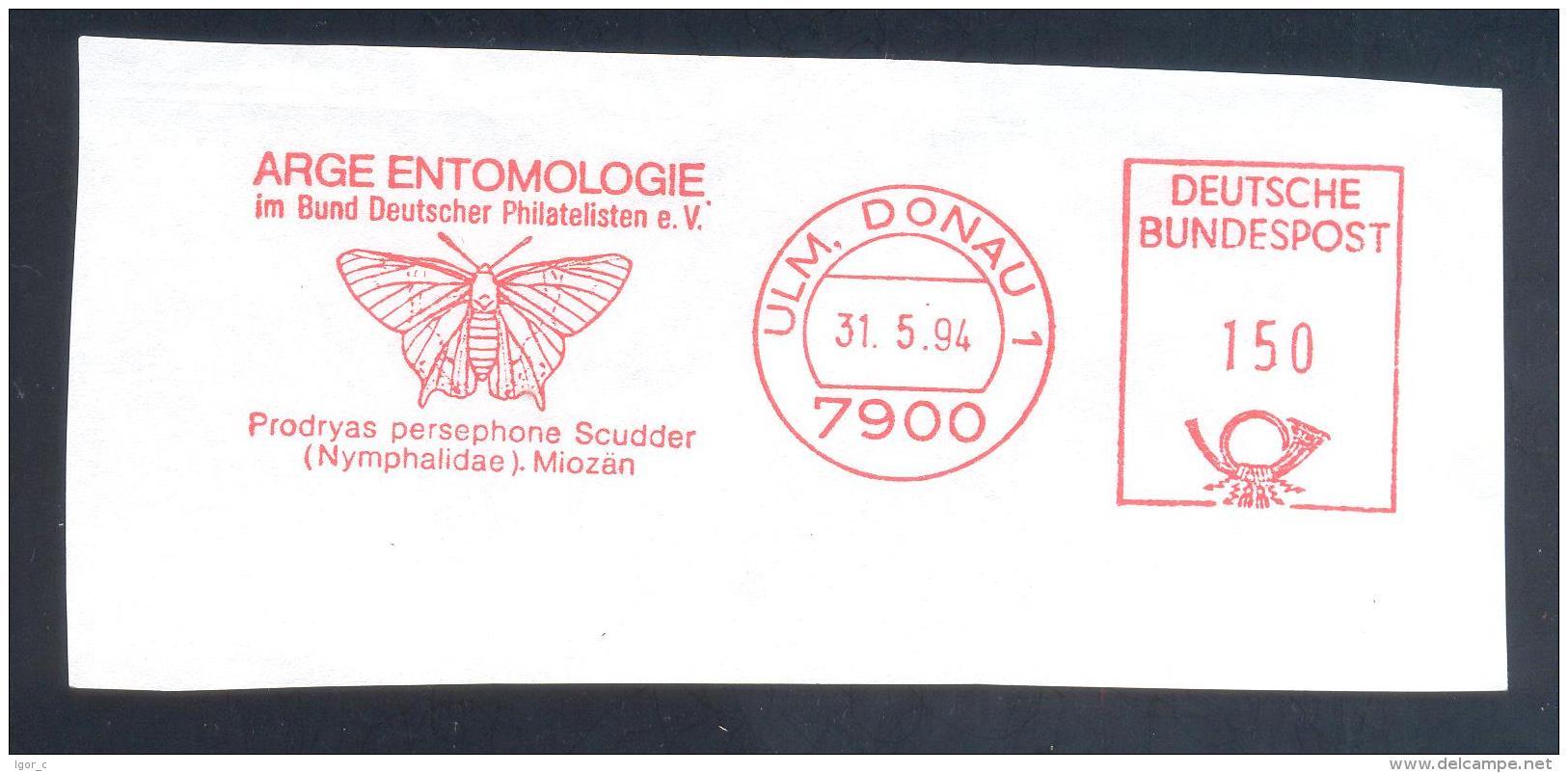 Germany 1994 Meter EMA Cancellation Freistempel: Etnomology Insect Butterfly Schmetterling Mariposa Papillon Farfalla - Schmetterlinge