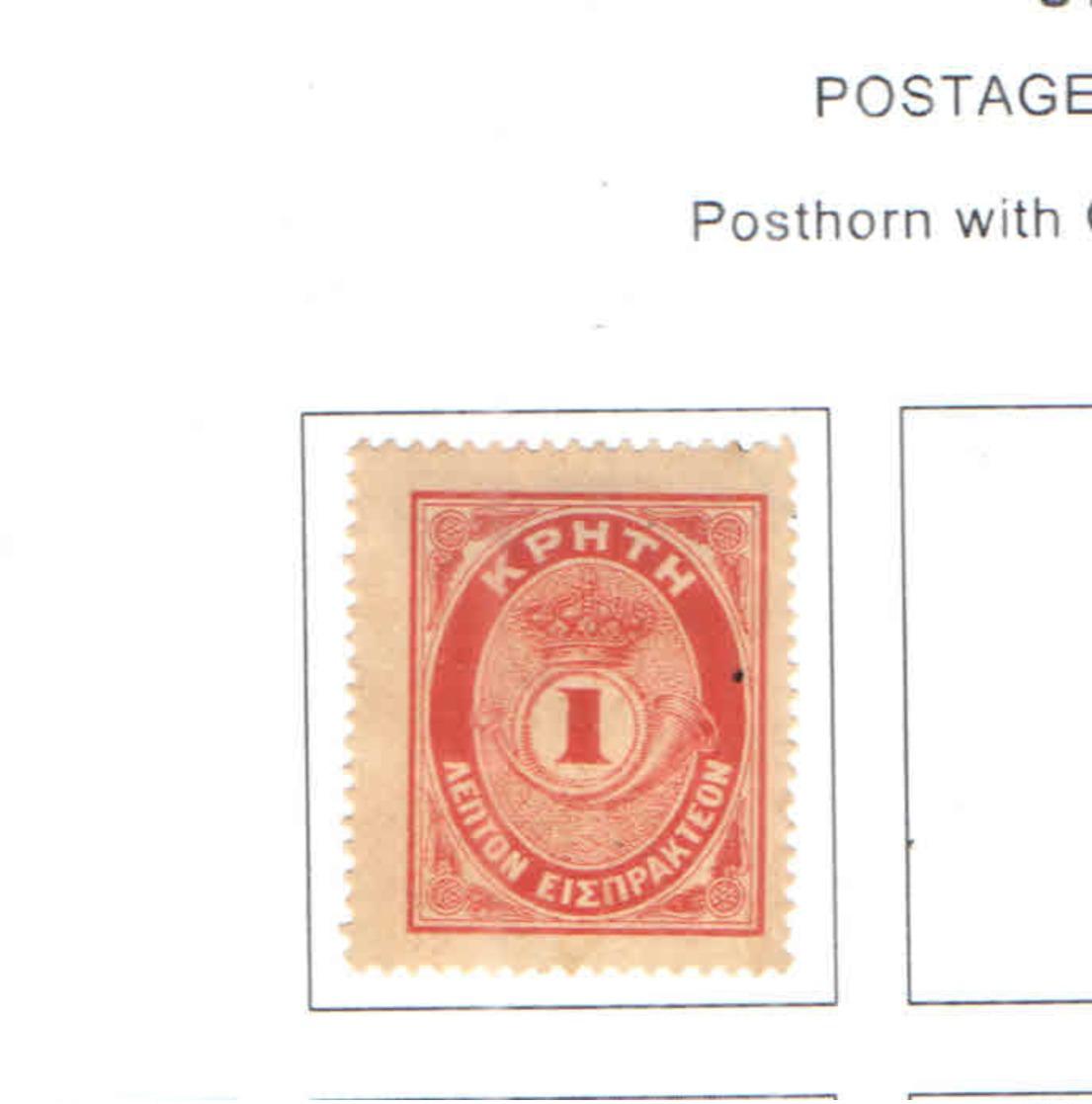 Creta Postage 1901 Posthorn   Scott.J 01 See Scan On Scott.Page - Creta