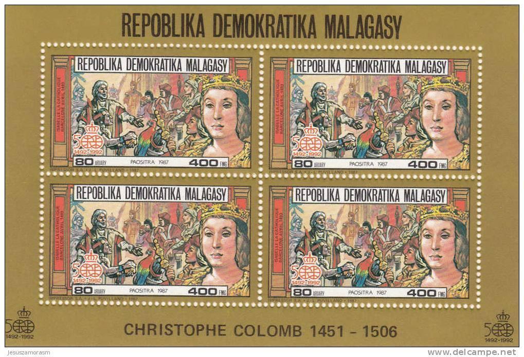 Madagascar Hb Michel 59A Al 64A En Oro - Madagascar (1960-...)