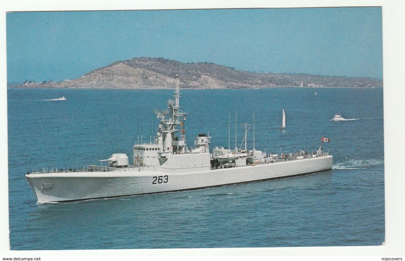 HMCS YUKON Canadian Navy Ship Postcard Canada - Warships
