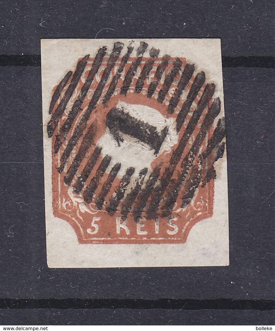 Portugal - Yvert 1 Oblitéré - Signé Expert Français Brun - Valeur 1100 Euros - 1853 : D.Maria