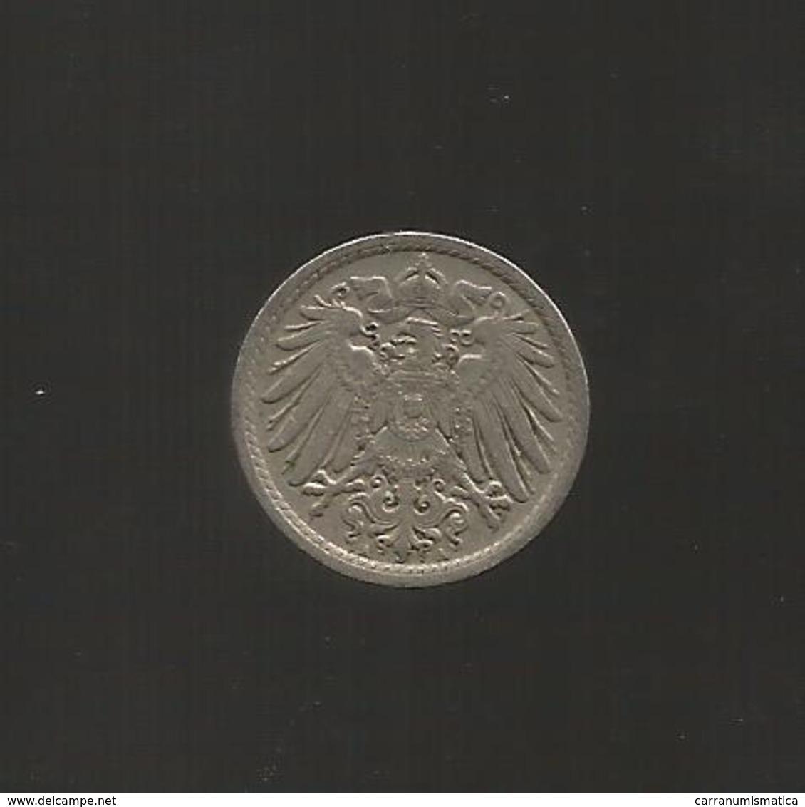 DEUTSCHLAND / GERMANY - 5 PFENNIG ( 1908 - A ) - [ 2] 1871-1918 : Impero Tedesco