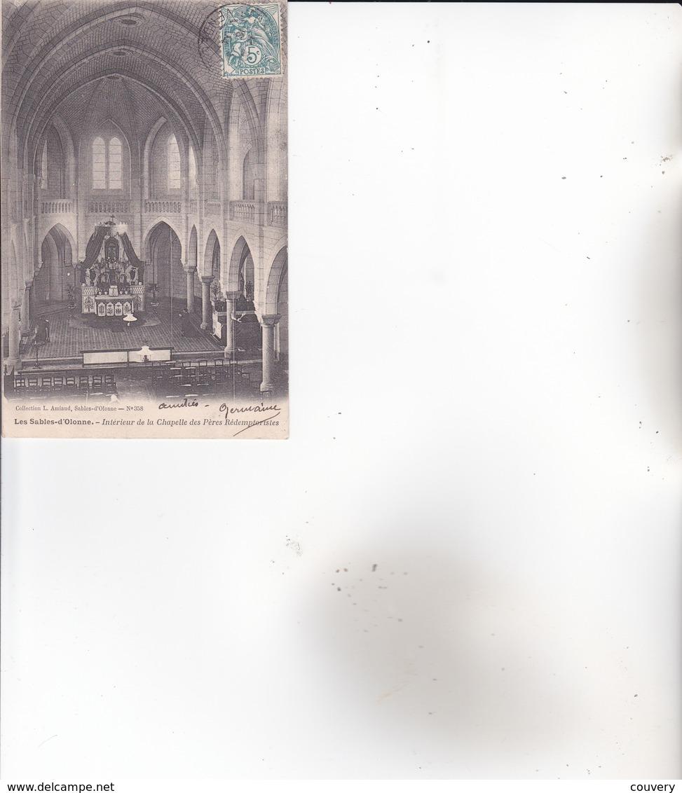 CPA 85 SABLES-D'OLONNE, Intérieur De La Chapelle Des Pères Redemptoristes. (1904) - Sables D'Olonne