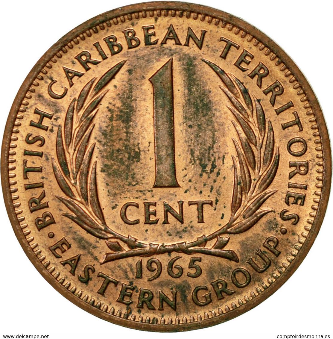 Monnaie, Etats Des Caraibes Orientales, Elizabeth II, Cent, 1965, TTB+, Bronze - Caraïbes Orientales (Etats Des)