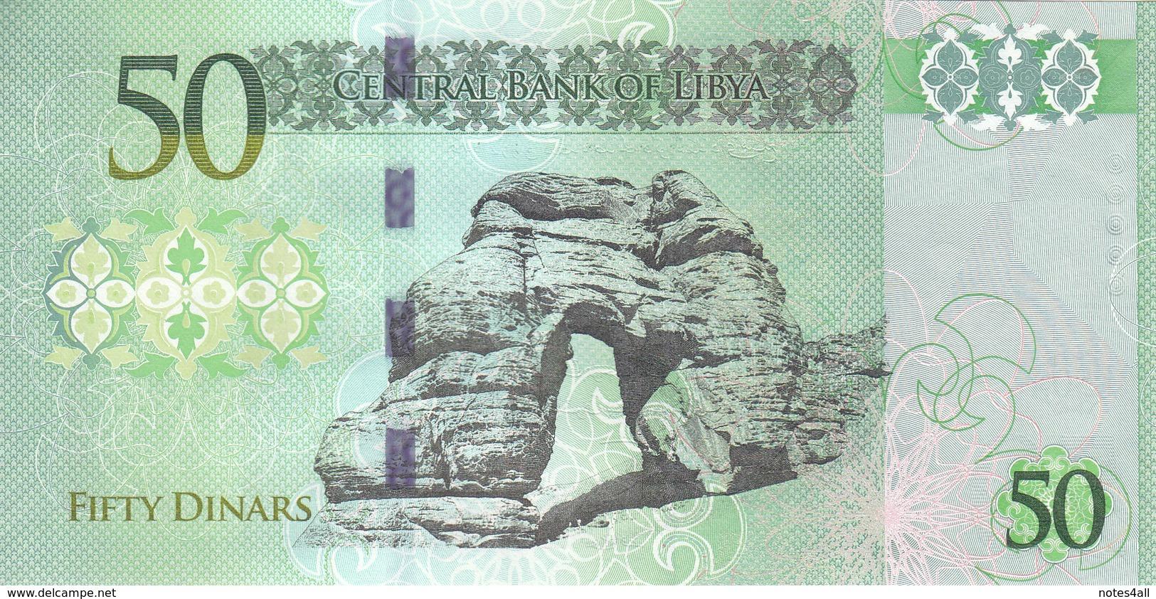 LIBYA 50 DINARS 2013 2015 P-80 AU/UNC */* - Libya