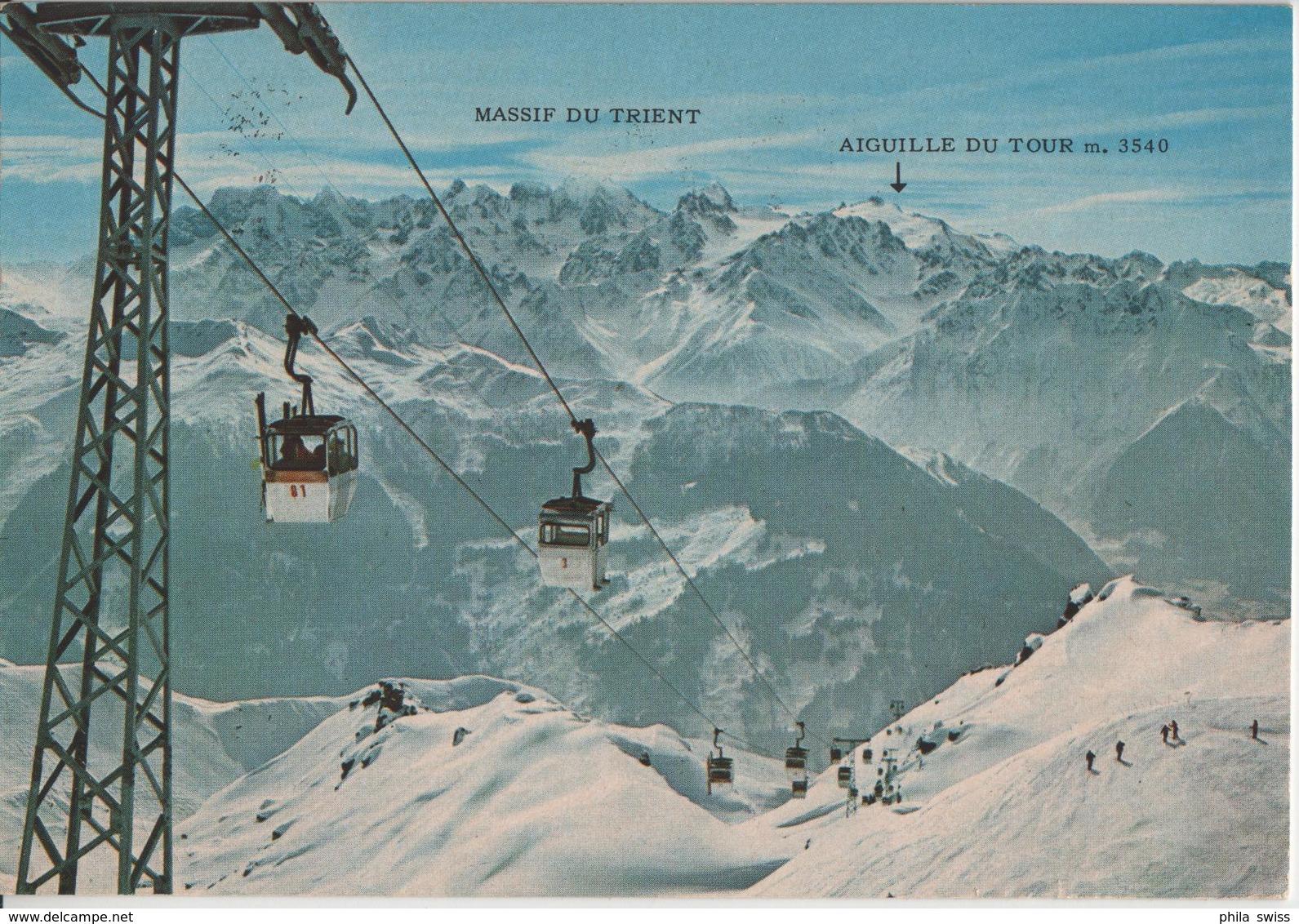 Verbier - Arrivee Telec. Attlas Il Vue Sur Le Massif Du Trient Im Winter En Hiver - VS Valais