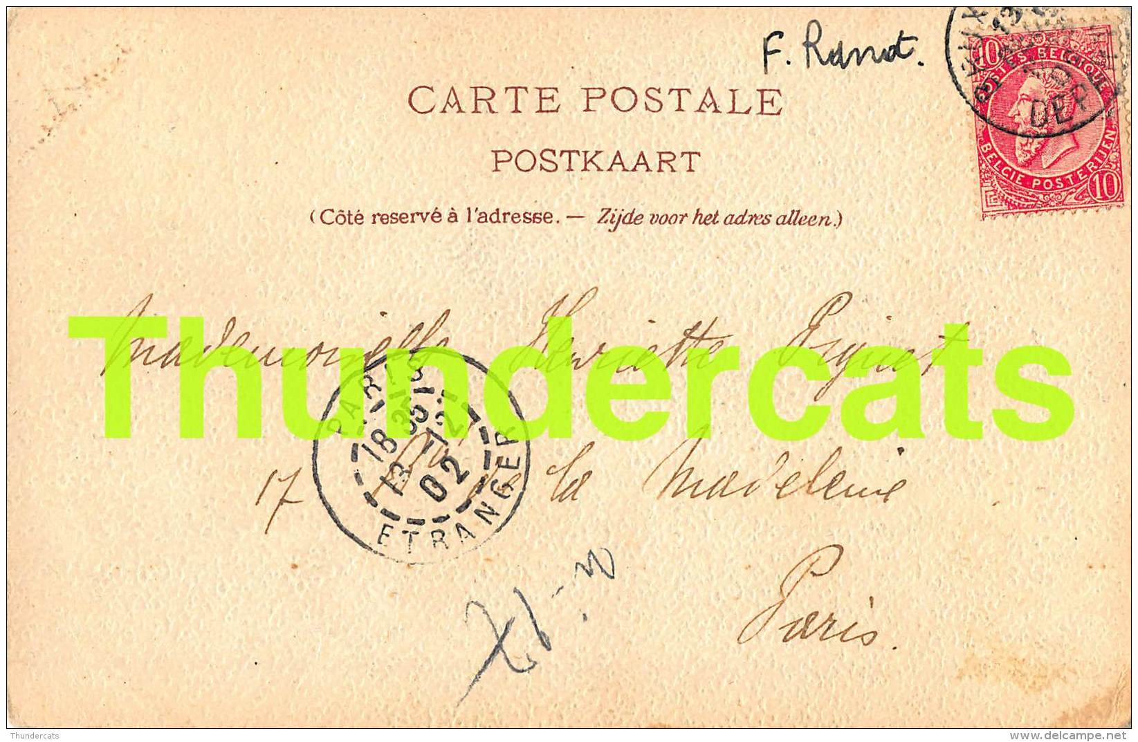 CPA  ILLUSTRATEUR F. RANOT LITHO GOFFART BRUXELLES  DILBEEK L'EGLISE - Dilbeek