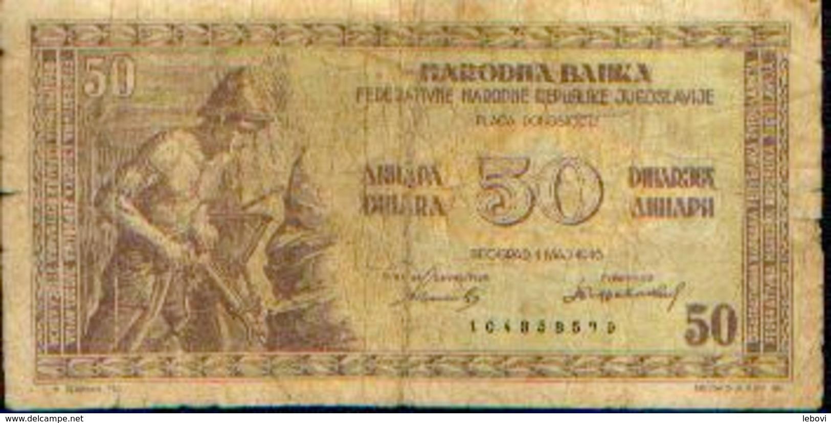 BULGARIE – 50 Dinar -01/MAJ/1946 - Bulgarie
