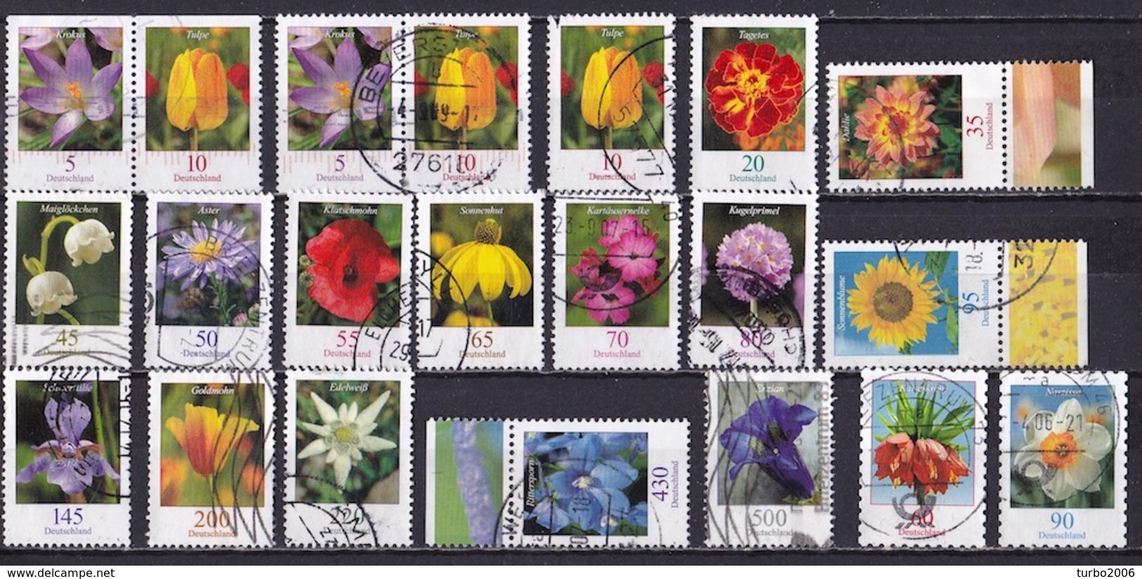 GERMANY Interesting Lot Of Flowers To € 5,00 As Shown On Scan - Gebruikt