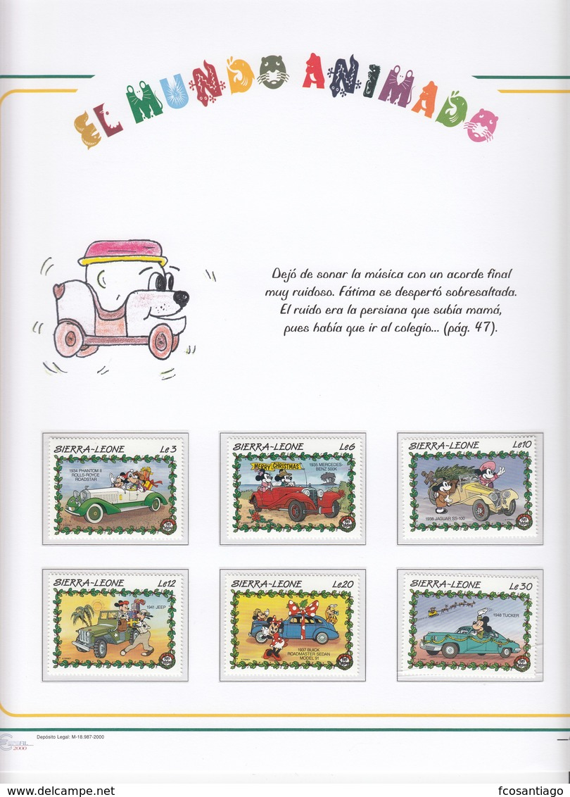 COLECCIÓN TEMÁTICA DE SELLOS - DISNEY - Dibujos Animados