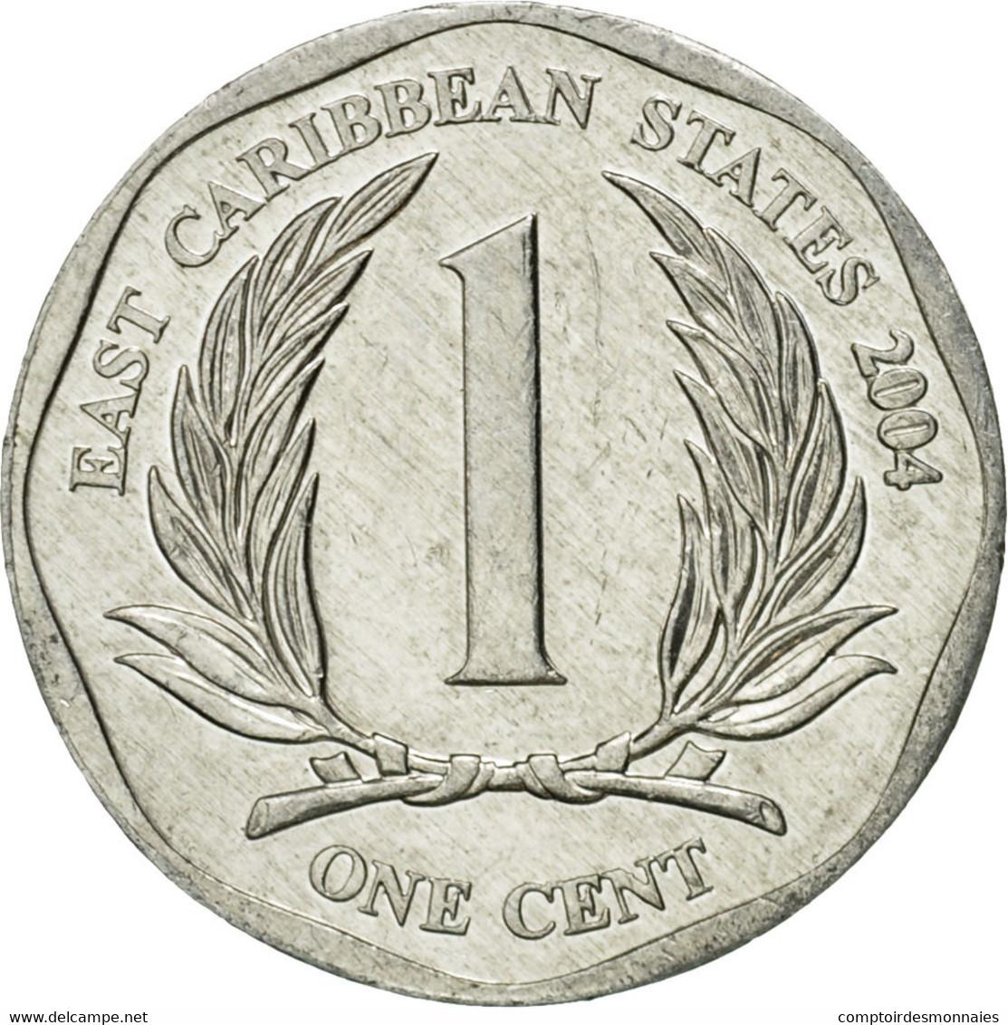 Monnaie, Etats Des Caraibes Orientales, Elizabeth II, Cent, 2004, British Royal - Caraïbes Orientales (Etats Des)