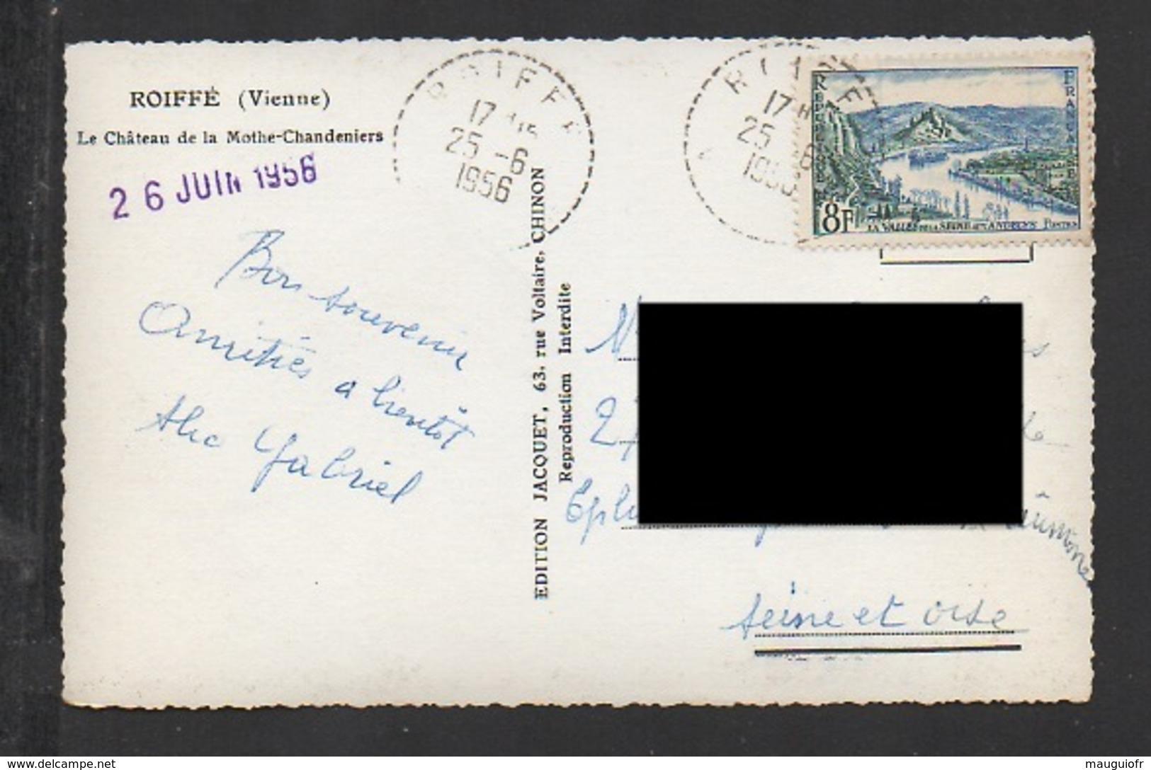DD / 86 VIENNE / ROIFFÉ / LE CHÂTEAU DE LA MOTHE-CHANDENIERS / CIRCULÉE EN 1956 - France