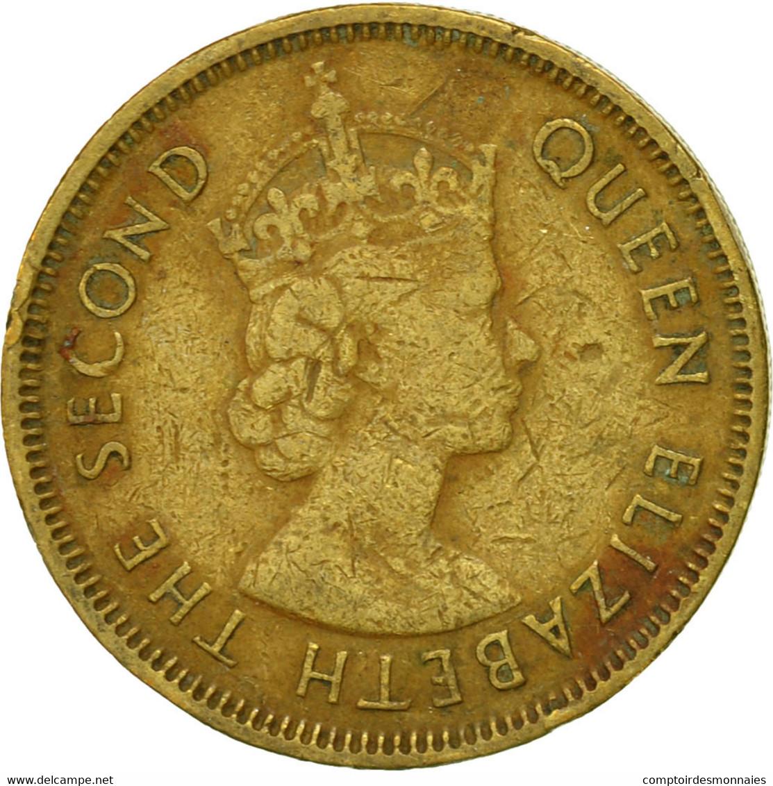 Monnaie, Hong Kong, Elizabeth II, 10 Cents, 1963, TTB, Nickel-brass, KM:28.1 - Hong Kong
