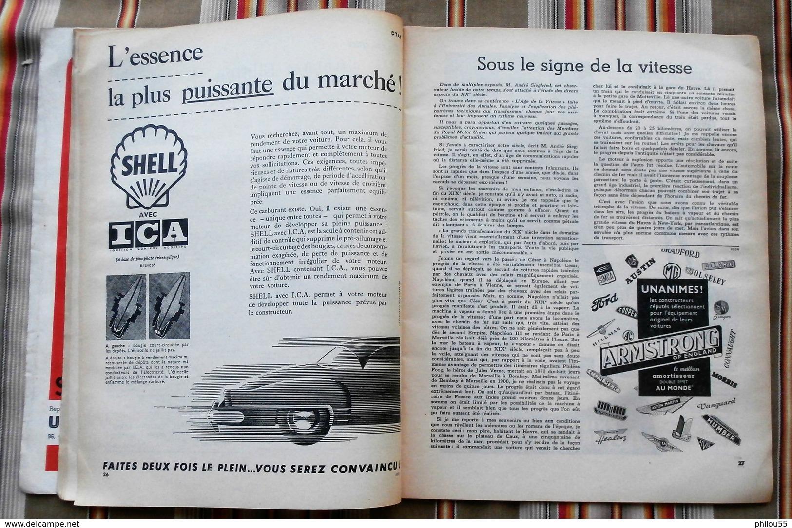Revue MOTOR  N° 4 1955 Royal Motor Union LIEGE PUB - Auto/Moto